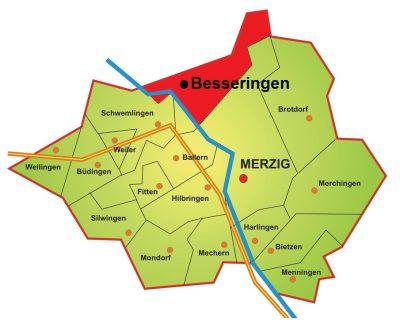 Karte Stadtteil Besseringen