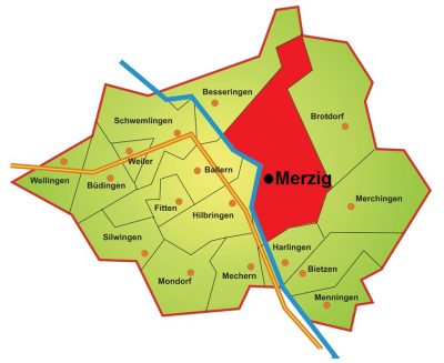 Karte Stadtteil Merzig