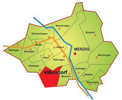 Karte Stadtteil Mondorf