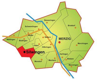 Karte Stadtteil Silwingen
