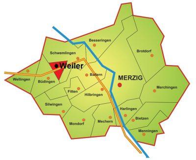 Karte Stadtteil Weiler